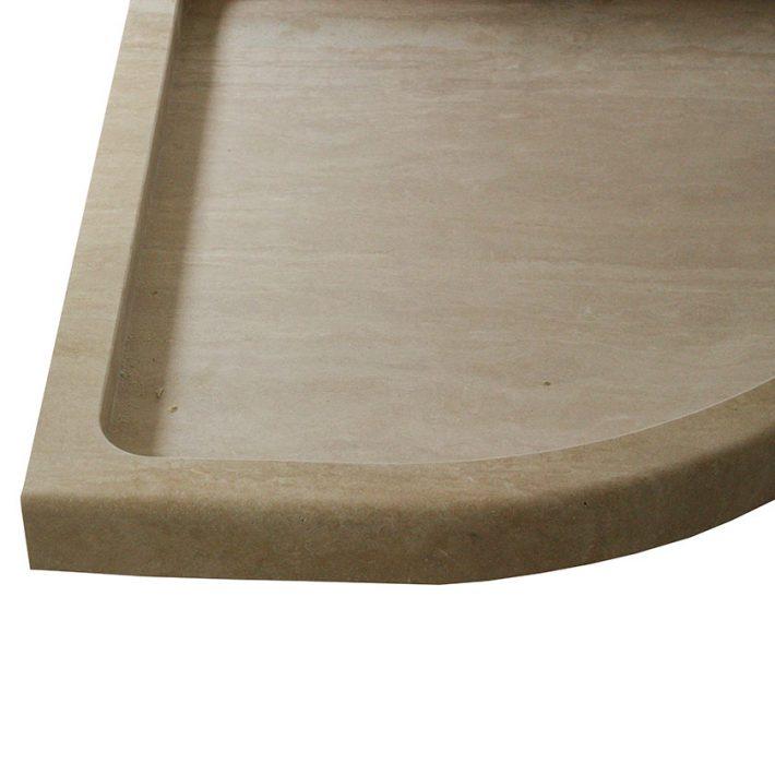Piatto doccia in pietra travertino di Tivoli