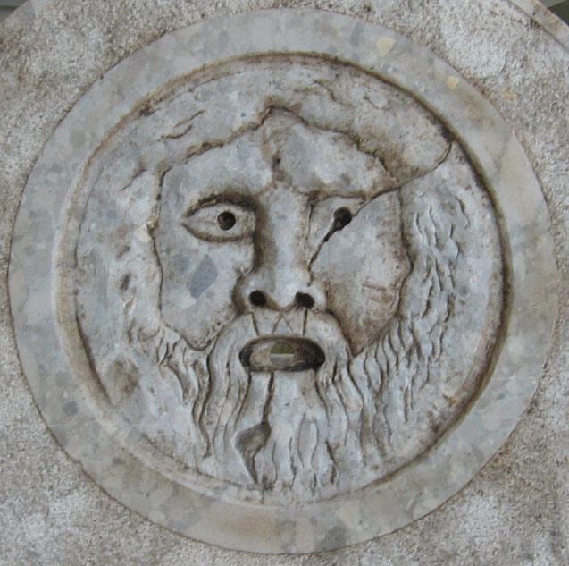 Decorazione fontane - Bocca della Verità